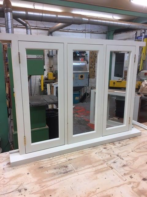 Softwood double glazed window