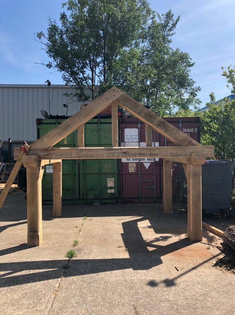 Solid Oak Porch