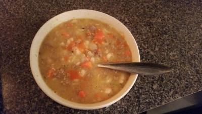 heritage pork chorizo sausage soup