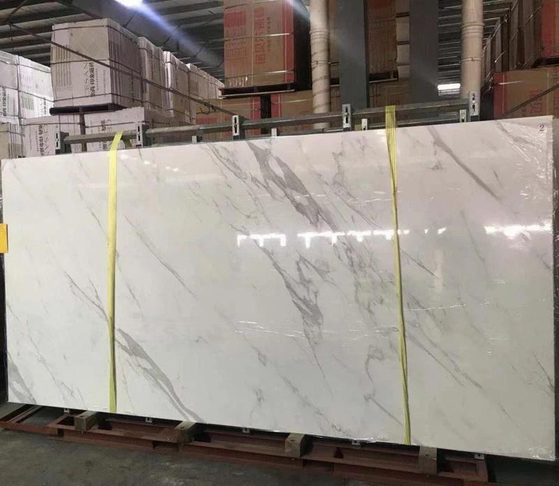 large porcelain slab white marble