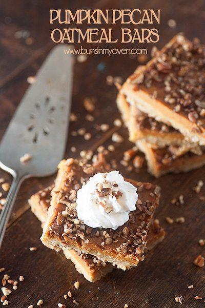 Pumpkin Pecan Oatmeal Bars - Easy Meal Plan #14