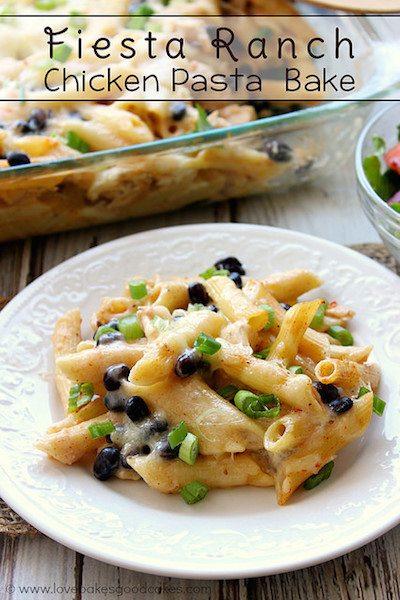 Fiesta Ranch Chicken Pasta Bake - Easy Meal Plan #16