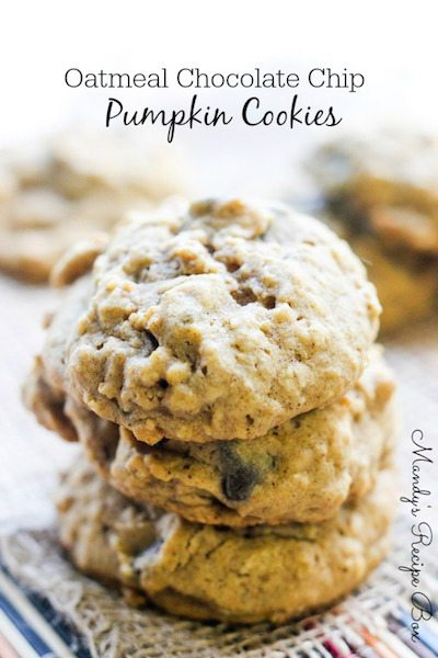 Oatmeal Chocolate Chip Pumpkin Cookies - Easy Meal Plan #15