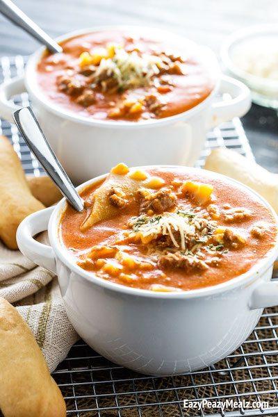 Lasagna Soup - Easy Meal Plan #16