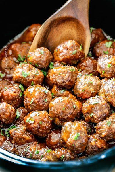 Slow Cooker Honey Buffalo Meatballs - Easy Meal Plan #25