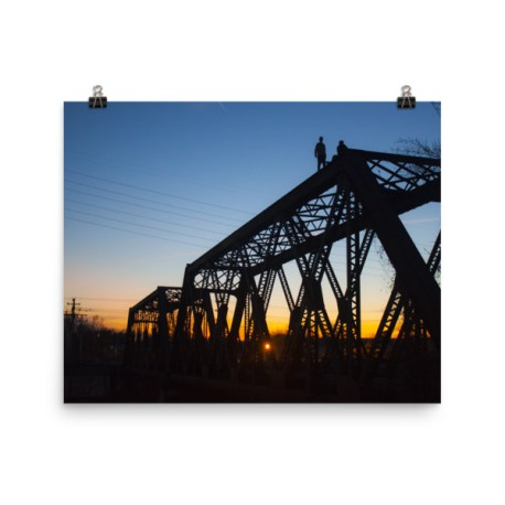 Railroad Bridge Sunset Print
