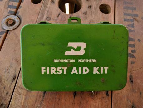Vintage Burlington Northern First Aid Kid