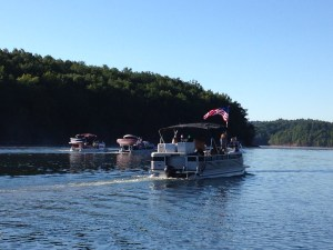 Deep Water Solo Competition on Summersville Lake