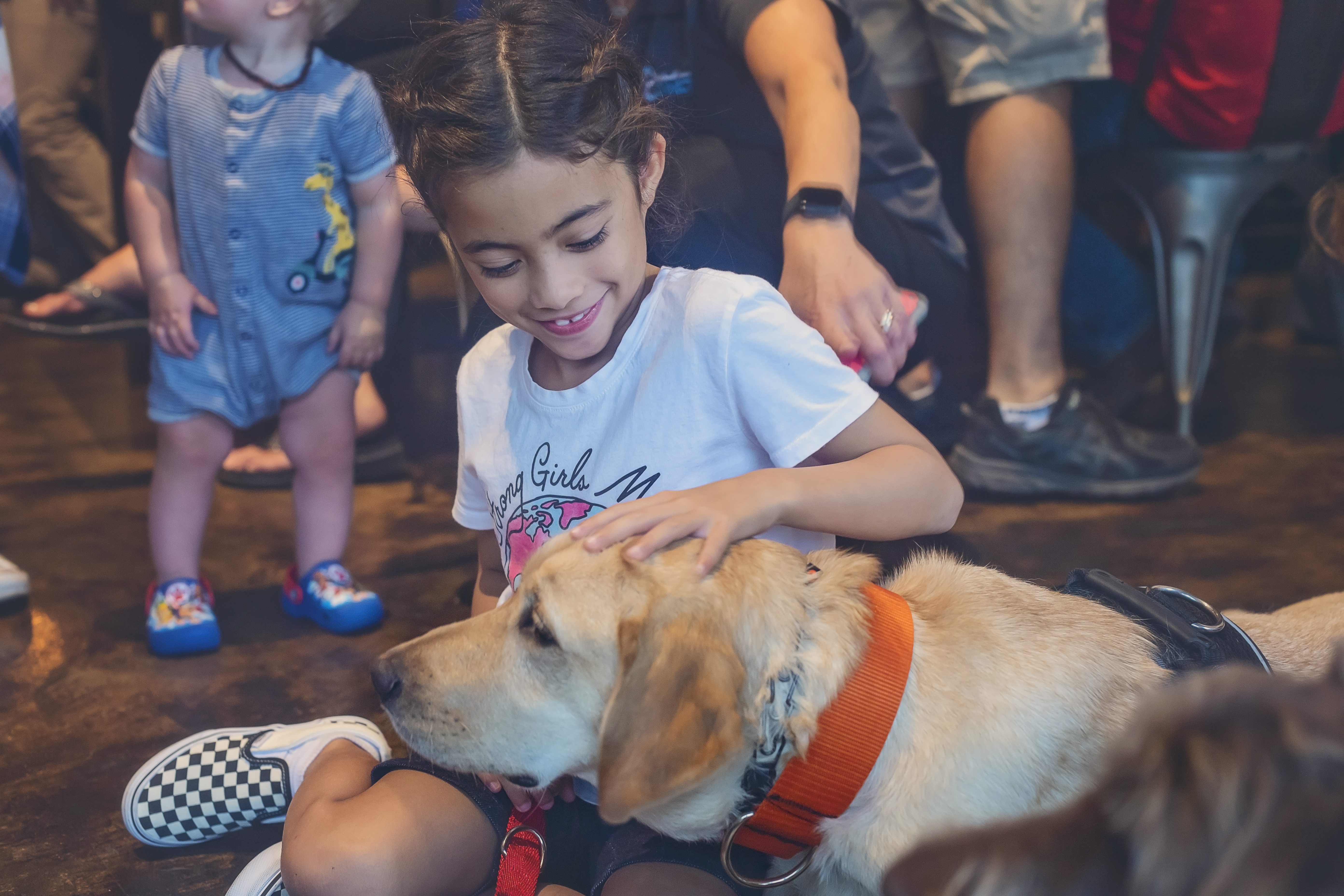 service dog and child