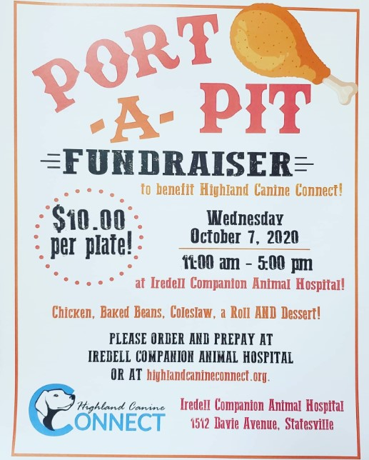 port a pit fundraiser for highland canine connect