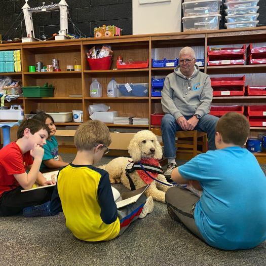 highland canine connect school reading program