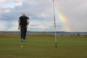 Golfer on 10th Green Struie Course