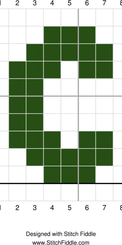 C graph st patricks day wreath crochet