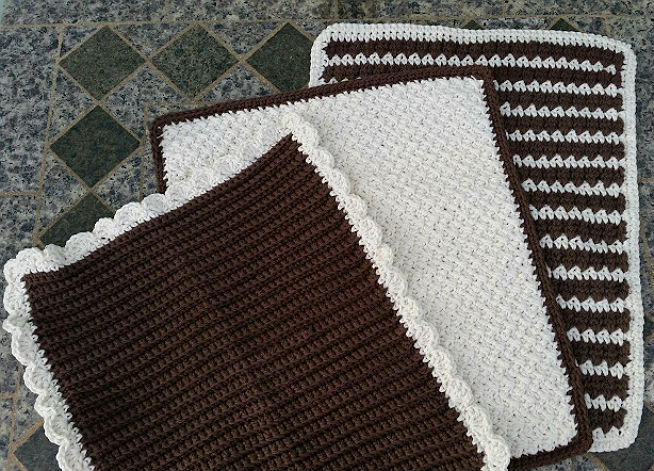 Dish Towels Or Dish Mat Free Crochet Pattern Highland Hickory