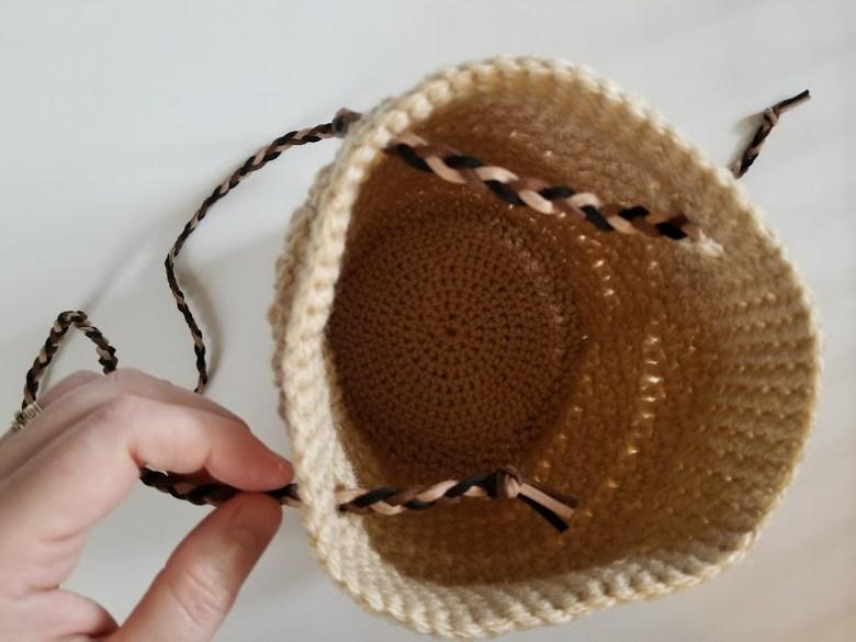 boho braided bucket bag