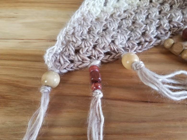 cappuccino triangle shawl