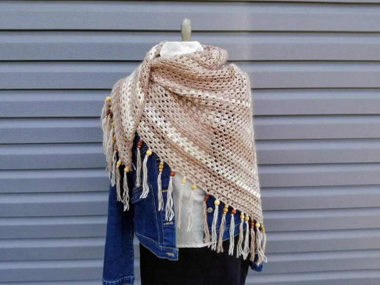 Cappuccino Triangle Shawl