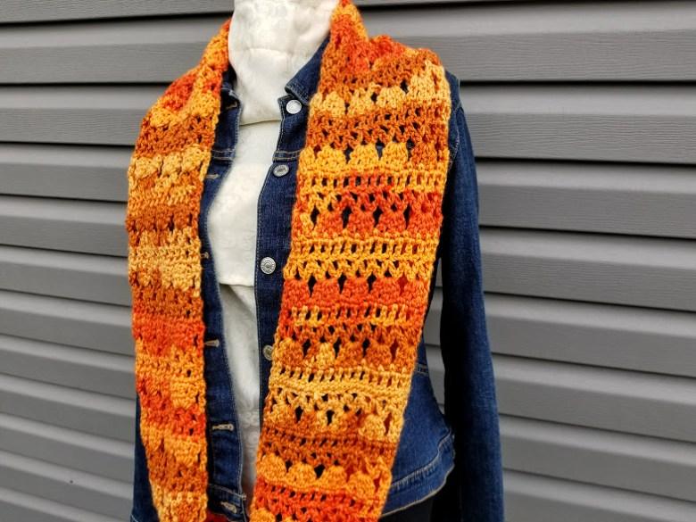 Textured Hand Crocheted Infinity ScarfSnoodHood Autumn Scarf