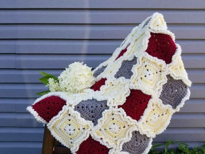 rag quilt style baby blanket