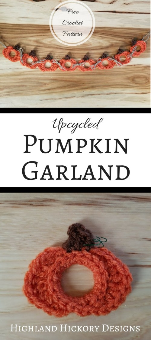 upcycled pumpkin garland