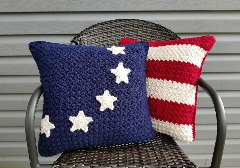 Americana Pillows Highland Hickory Designs Free Crochet Pattern