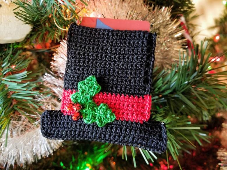 snowman hat ornament