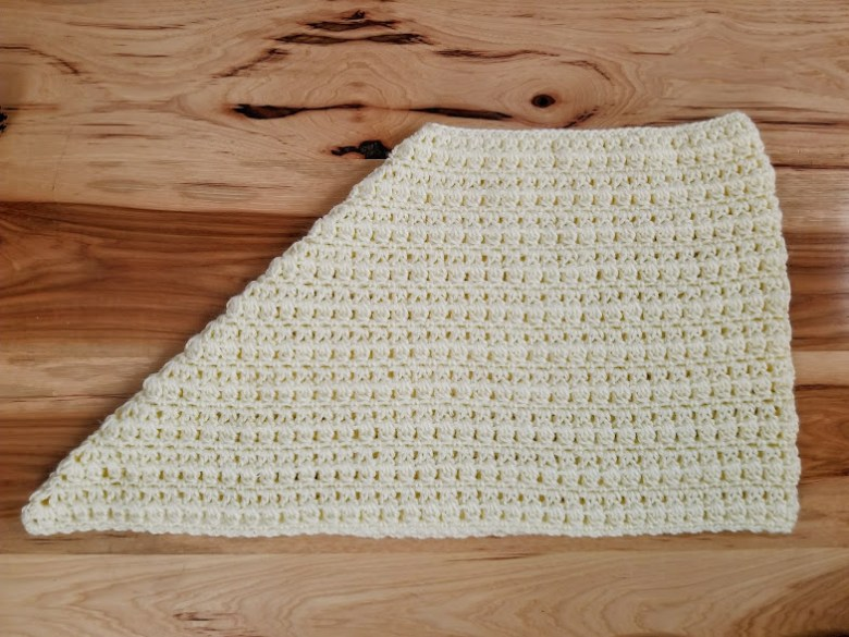 side view scarf laid out flat