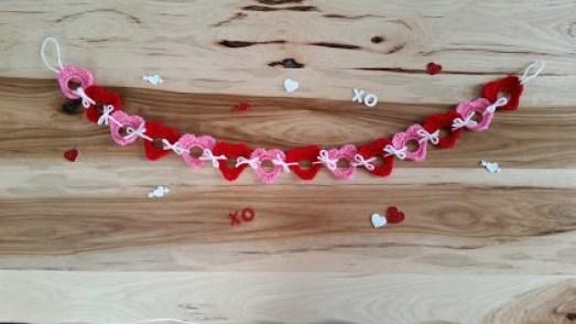 upcycled heart garland