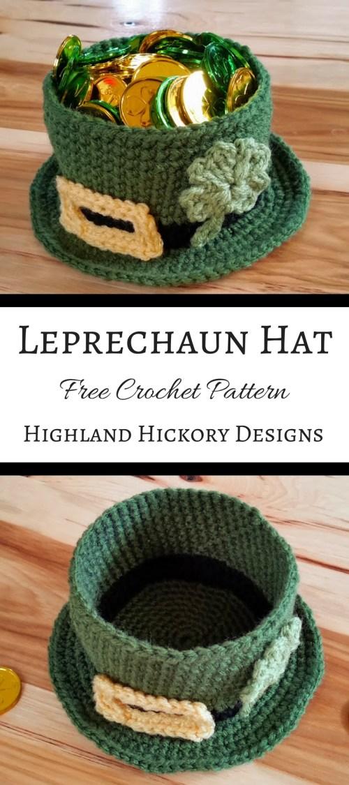 leprechaun hat pin for pinterest