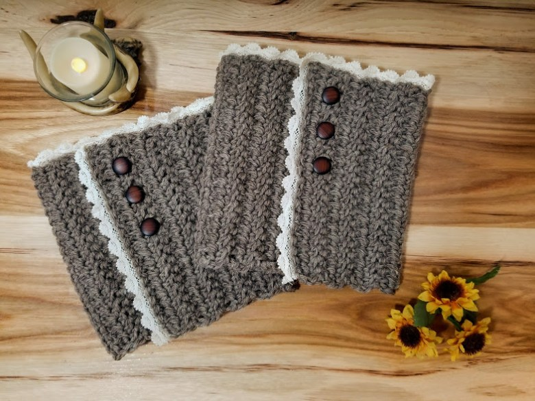 Rustic Boot Cuffs Free Crochet Pattern Highland Hickory Designs