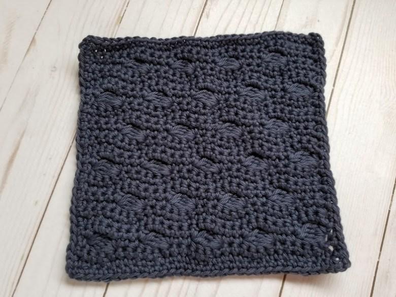 Ocean Waves Washcloth Free Crochet Pattern Highland Hickory Design