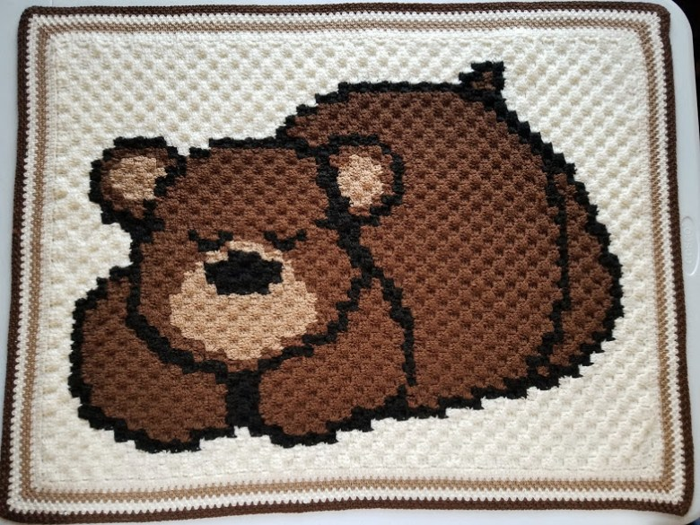 Mimo the sleepy bear amigurumi pattern | 585x780