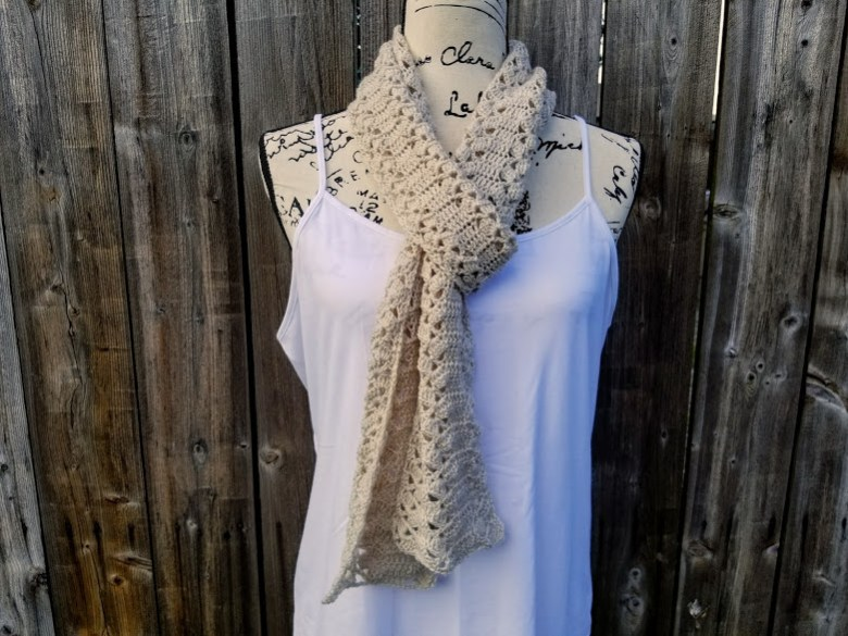 rustic lace scarf