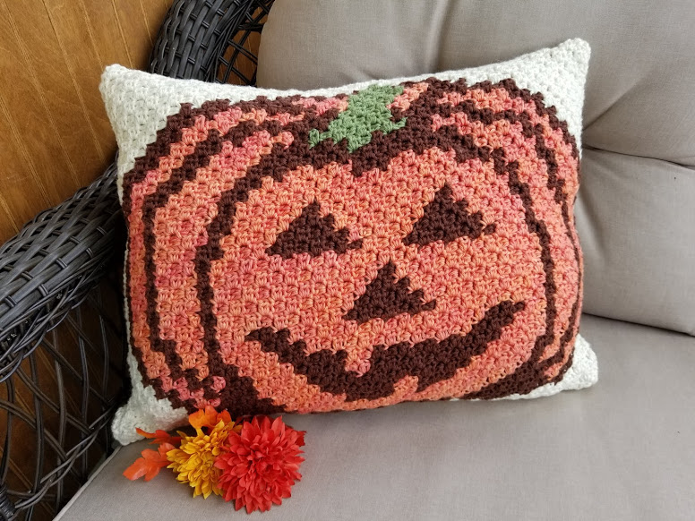 Pumpkin Pillow Highland Hickory Designs Free Crochet Pattern