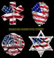 hEROES BADGE COLLAGE FLAG MOTIFV1-72DPI