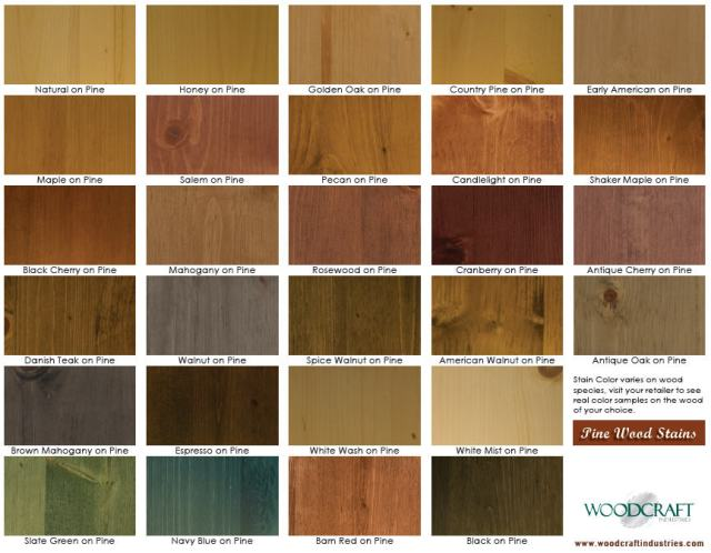 Wood Stain Colors