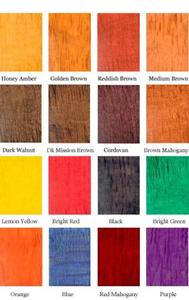 Wood Dye Color Chart