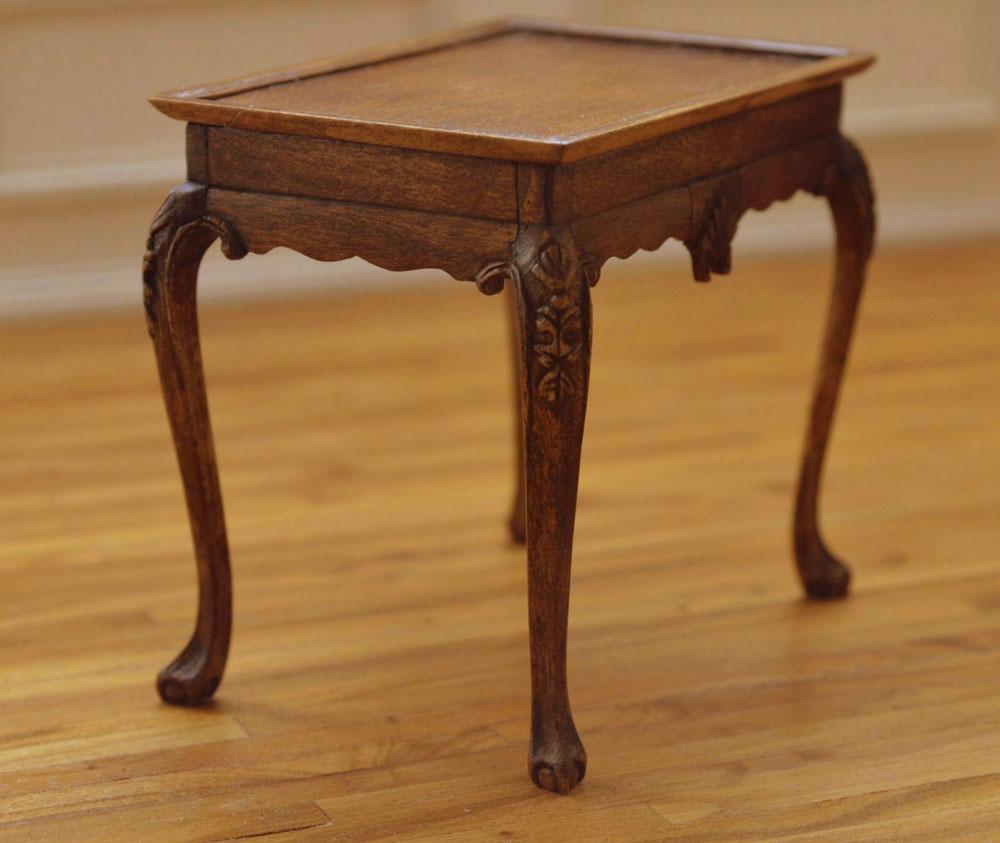 Irish George II Carved Tea Table In 112 Scale Linda Master