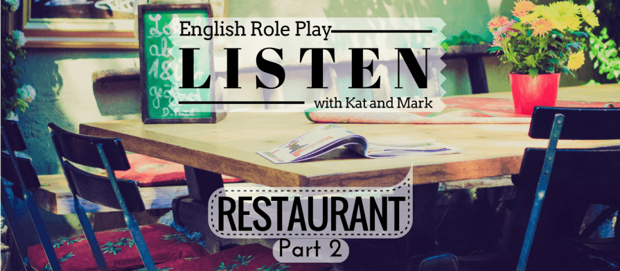 English Listening Practice Restaurant Role Play 2