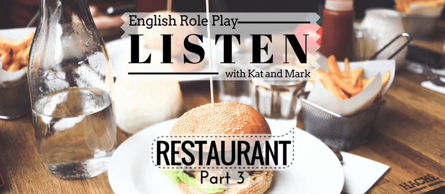 English Listening Practice Restaurant Role Play USA and UK 3