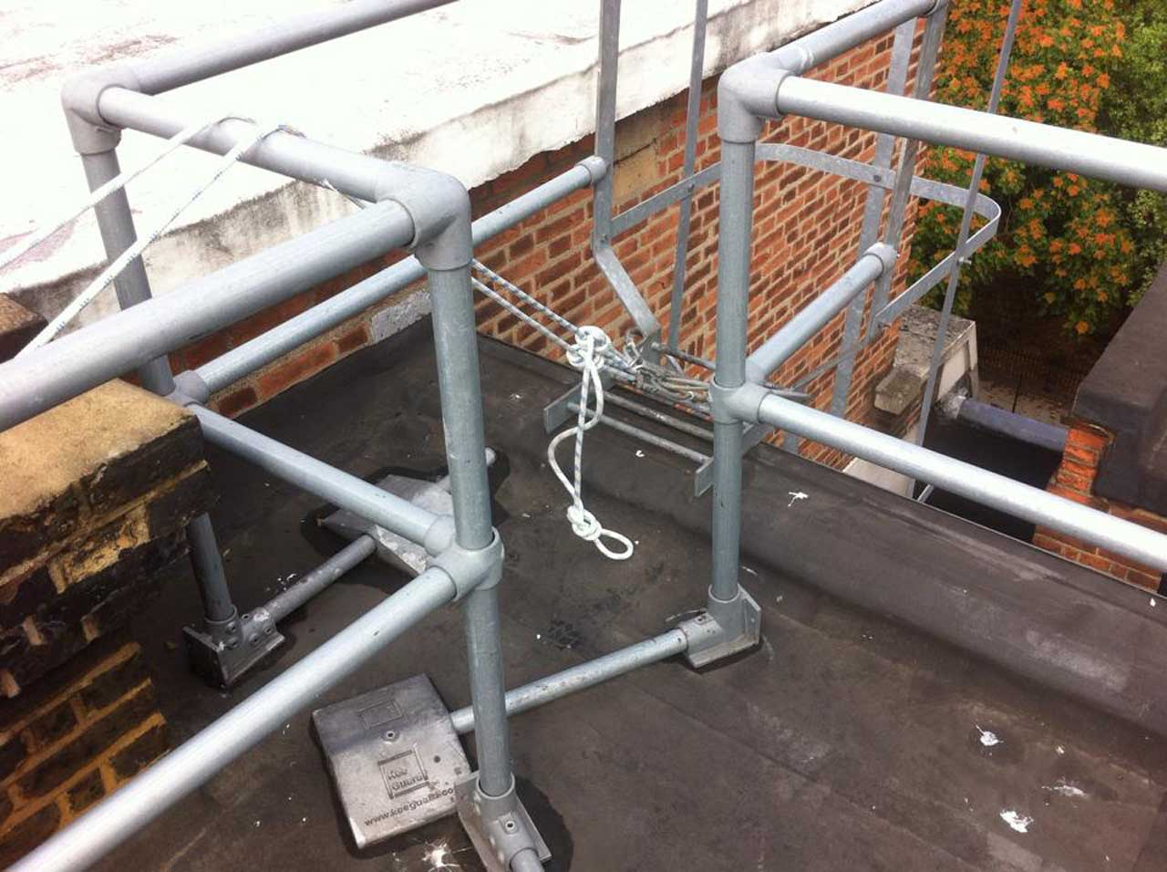 Safety system installation and certification by means of rope access