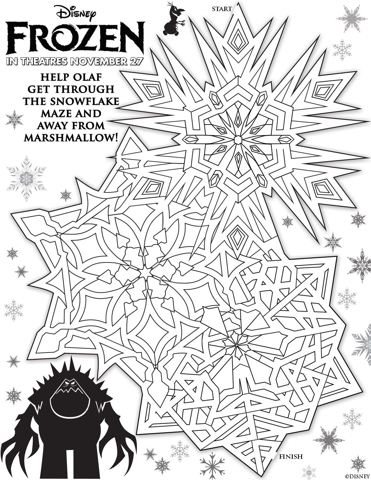 Free Printable Maze Activity Sheets To Celebrate Frozen