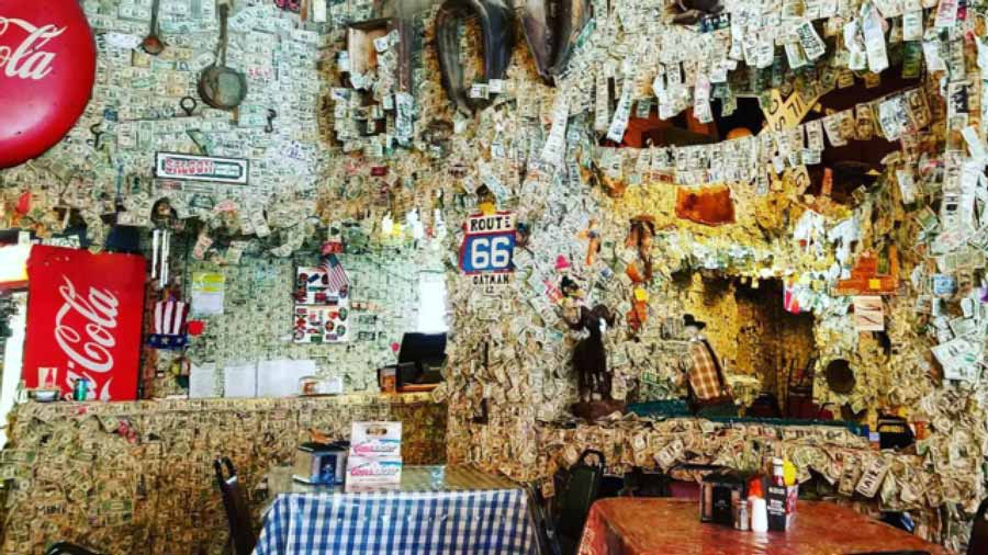 Bar-in-AZ-with-money-hanging-on-wall