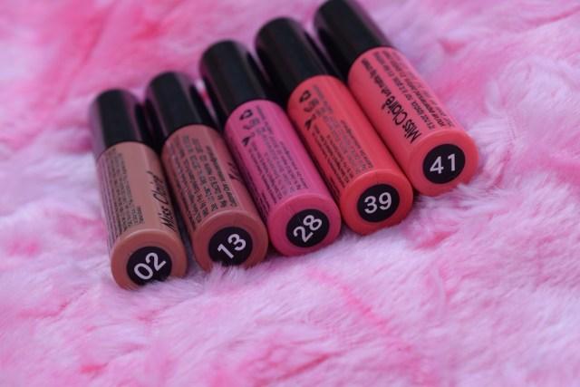 miss claire soft matte lip cream shades