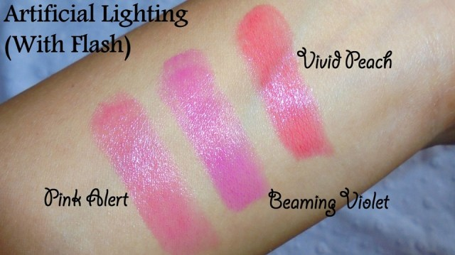 Maybelline Baby Lips Bright Out Loud! Lip Balm Pink Alert, Vivid Peach & Beaming Violet (3)