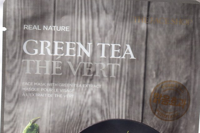 The Face Shop Real Nature Green Tea Sheet Mask (4)