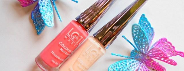 Lotus Herbals Color Dew Nail Enamel 955 Fairy Tale 902 Nude Pink