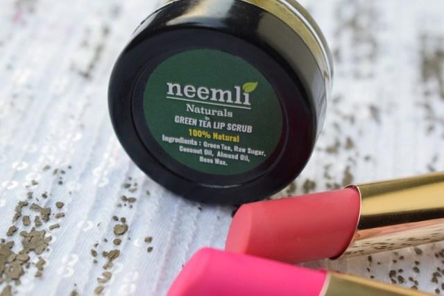 Neemli Naturals Green Tea Lip Scrub (4)