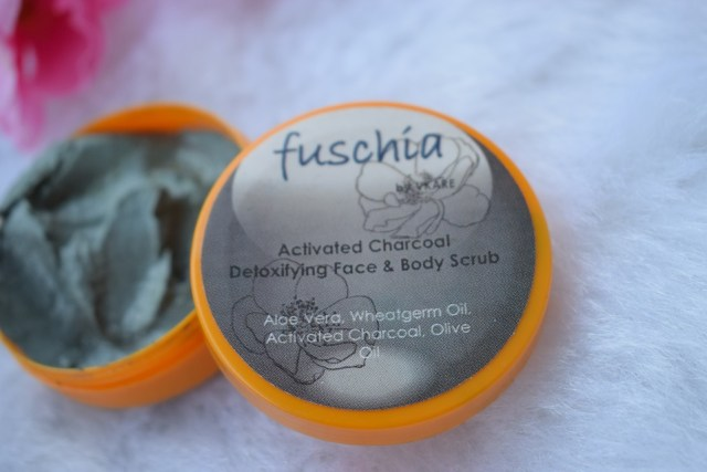 Fuschia Activated Charcoal Detoxifying Face & Body Scrub (4)
