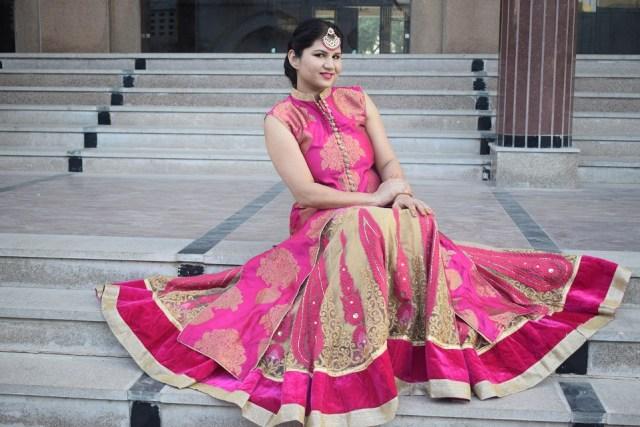 Style long kurta with lehenga